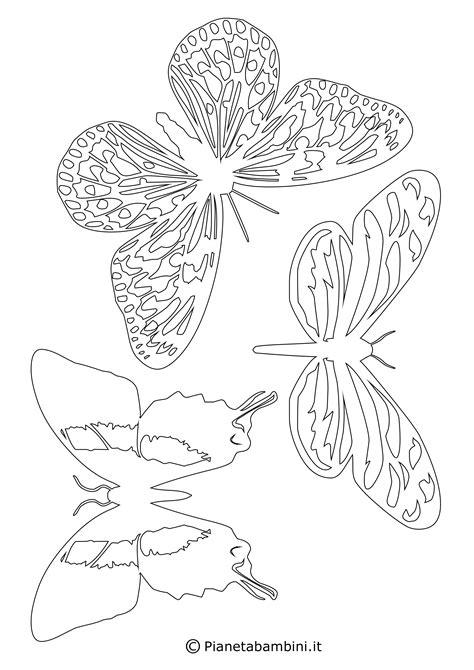 fiori e farfalle disegni sagome di farfalle da colorare e ritagliare per bambini