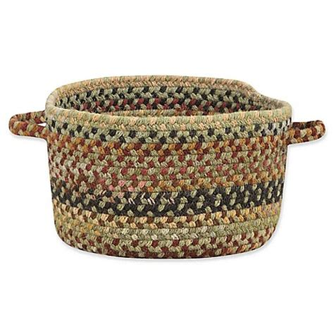 bed bath and beyond bangor buy capel rugs bangor small braided basket in sage green from bed bath beyond