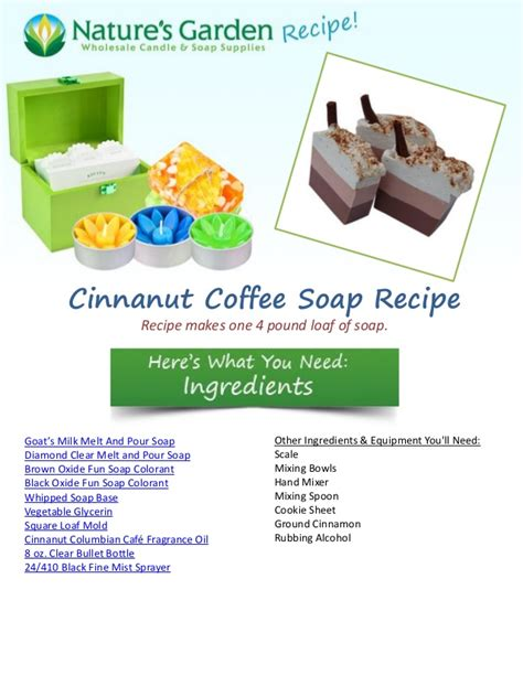 Natures Garden Coupon by Cinnanut Coffee Soap