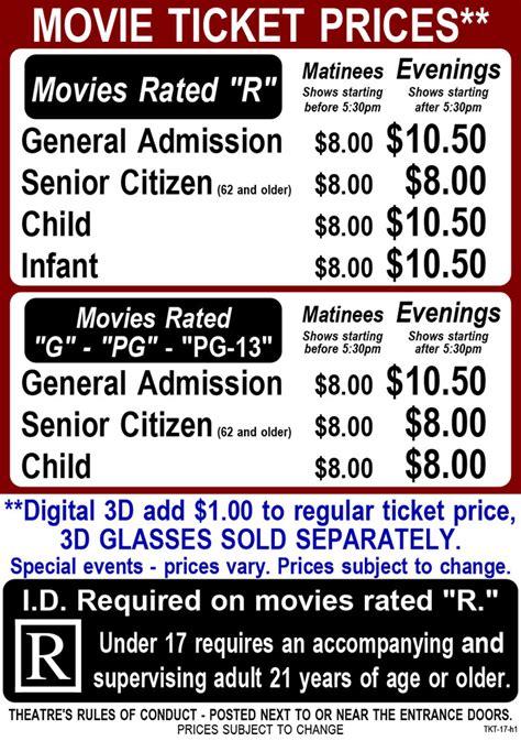 cineplex imax ticket prices hermiston cinema ticket pricing