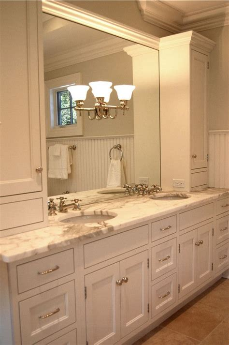 bathroom vanity ideas this custom vanity has has two 15 quot drawer units on either side in