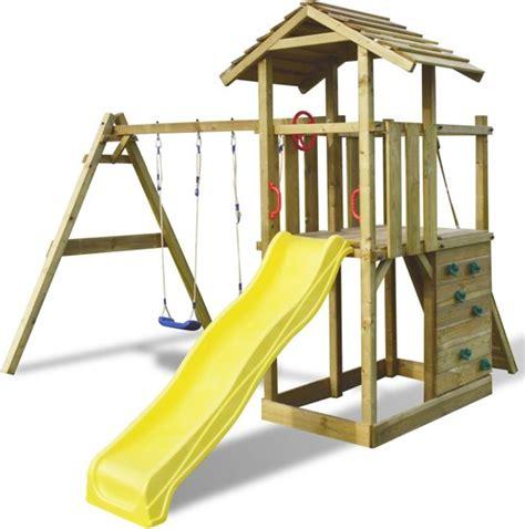 vidaxl buitenspeelgoed bol vidaxl speeltoren met ladder glijbaan en