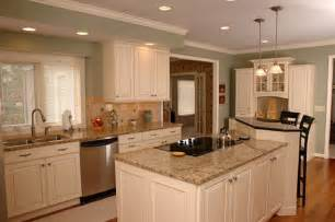 Two different colored kitchen cabinets two different color kitchen