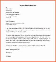 business letter template word business meeting invitation