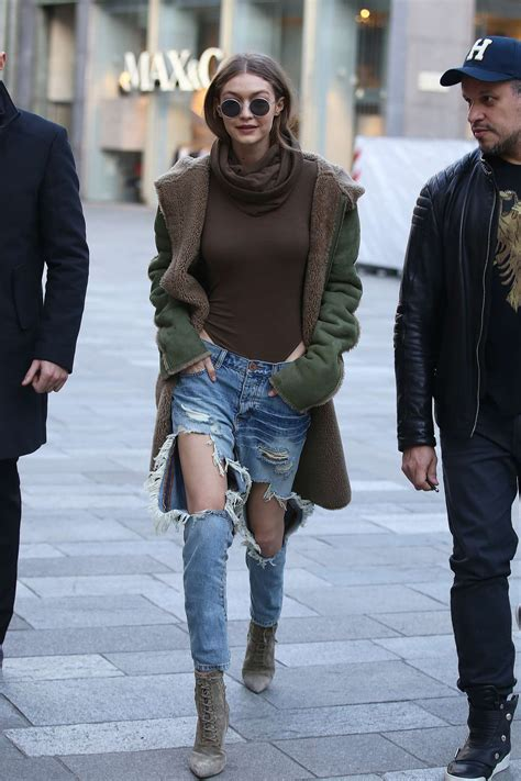Milan Ripped gigi hadid in ripped out in milan by lianxio