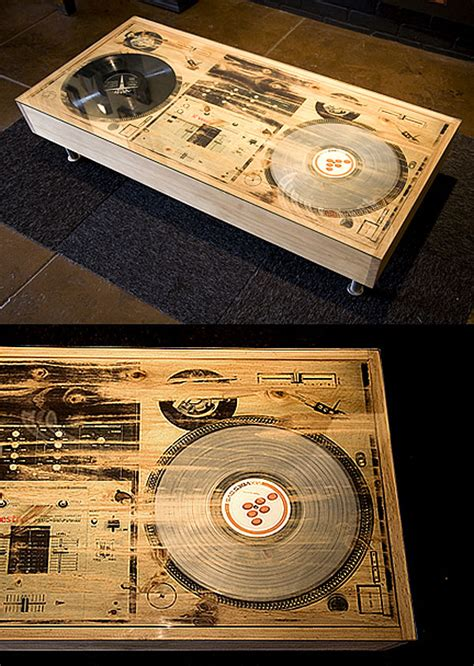 Dj Scratch Table bughouse scratch dj coffee table won t play your records technabob