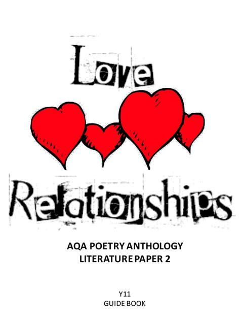 relationships r us books aqa poetry guide and relationships cluster