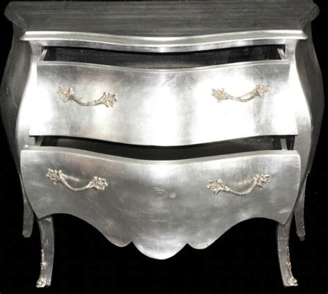 kommode silber baroque silver chest 100cm commodes baroque commodes