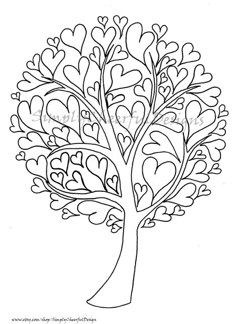susie s whimsical coloring book for all ages books tree printable coloring page a coloring page