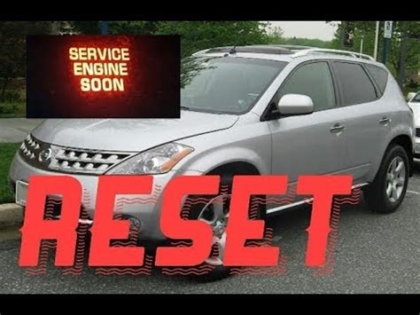 2009 nissan cube service engine soon light reset oil service light nissan murano reset service
