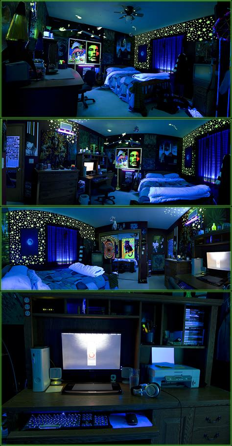 blacklight bedroom me in my room with my glow in the dark stars pics