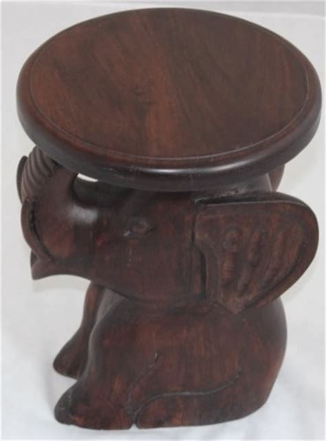 elephant accent table solid mango wood hand carved elephant side table asian