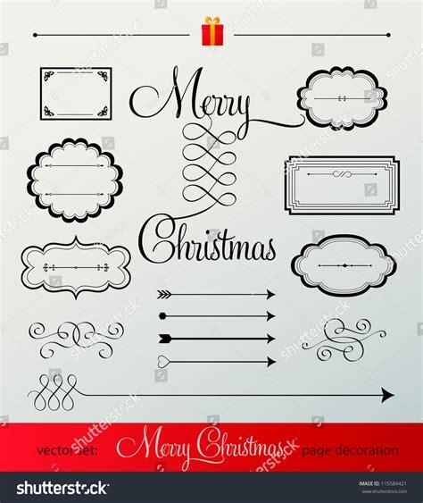 vintage vector design elements retro style typographic vintage christmas labels flourish retro style set vector
