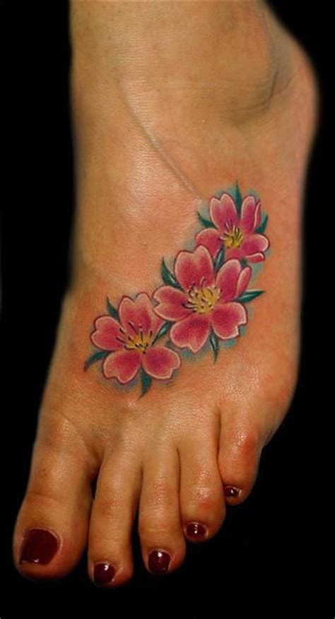 cherry blossom foot tattoo designs cherry blossoms on foot by marvin silva tattoonow