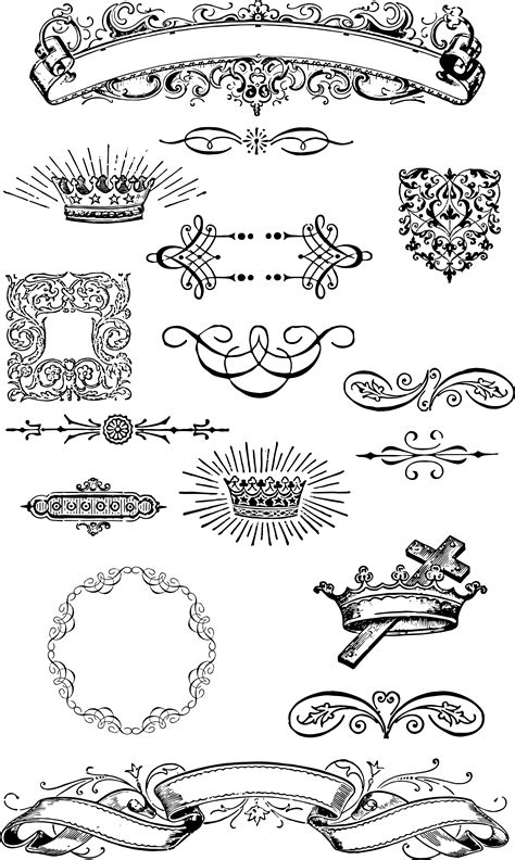 grunge design elements vector free free vintage grunge vector and clip art ornaments for t