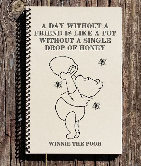 Wedding Gift One Year Rule by Winnie The Pooh Friendship Quote A Day Without A Friend