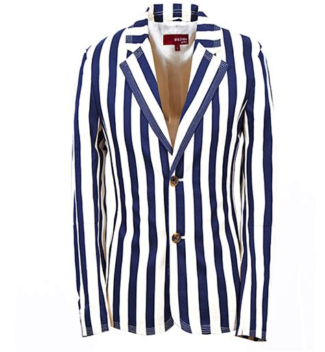 striped sleeve blazer grey navy casual striped blazer suit jacket navy blue white of high quality and style pi