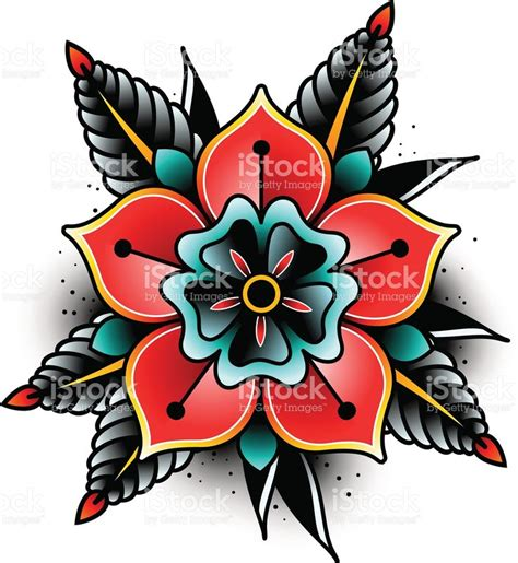 traditional flowers best 25 traditional flower tattoos ideas on