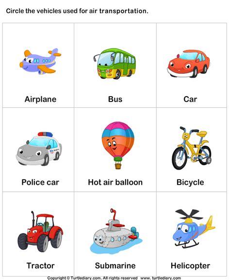 kindergarten themes transportation transports worksheet 1 dopravn 233 prostriedky pinterest