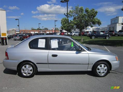 Accent L by Silver Mist 2001 Hyundai Accent L Coupe Exterior Photo