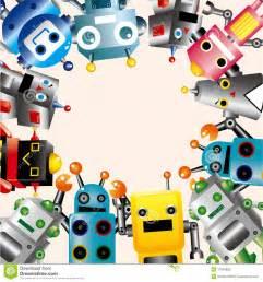 cartoon robot card royalty free stock photos image 17634828