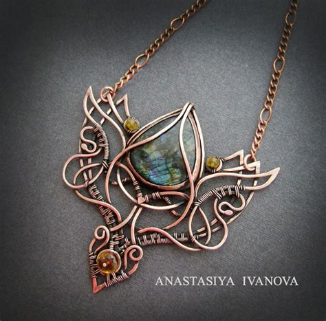 metal work jewelry copper wire wrapped and metal work jewelry by nastiva