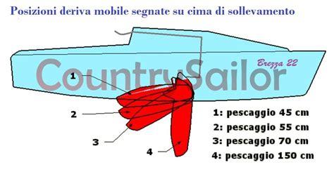 deriva mobile pescaggio deriva mobile brezza 22 la barca brezza 22