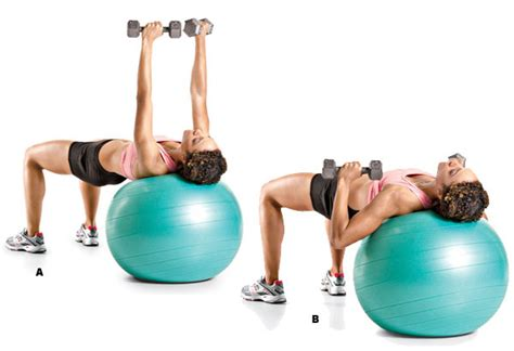 stability ball bench press uberexercise galvanize fresh upper body growth with the