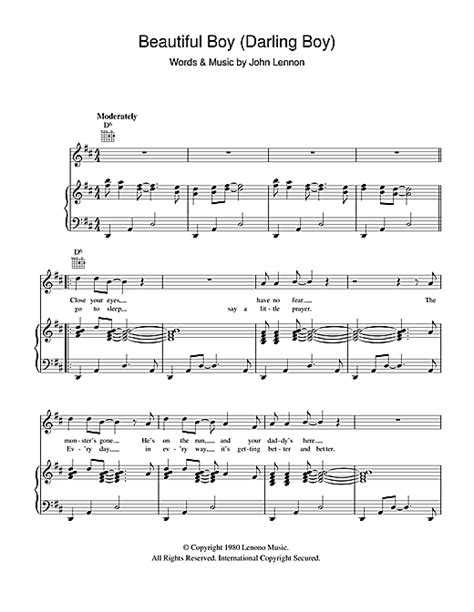 Beautiful Boy (Darling Boy) sheet music by John Lennon