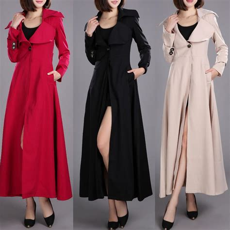 swing coats for spring spring autumn brand casual women long trench coat for
