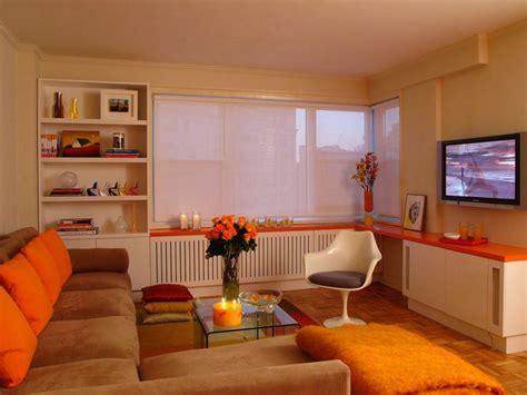 orange living room decor orange design ideas hgtv