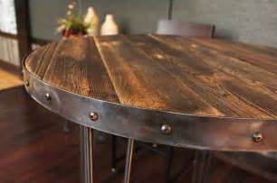 reclaimed wood round table top images