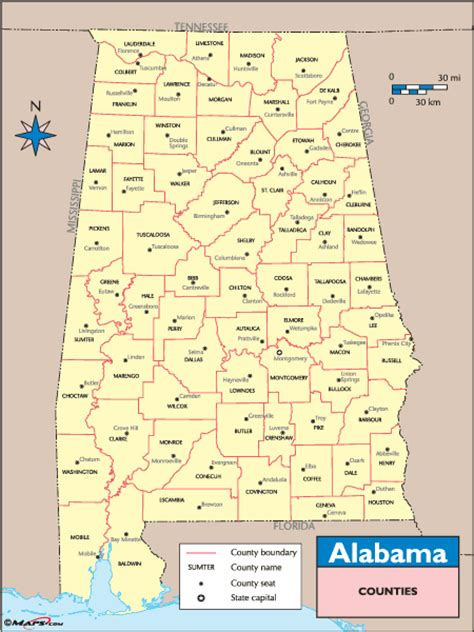 map of alabama counties alabama counties and county seats map by maps from maps world s largest map store