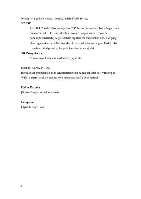 format membuat laporan praktikum format laporan praktikum