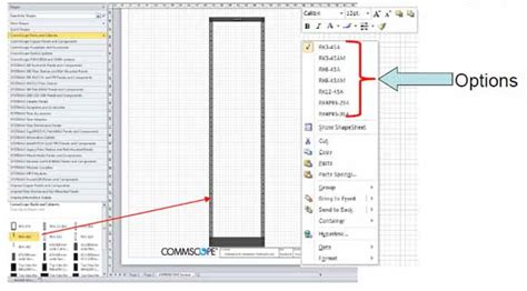 Floor Plans With Measurements visio stencils for commscope products