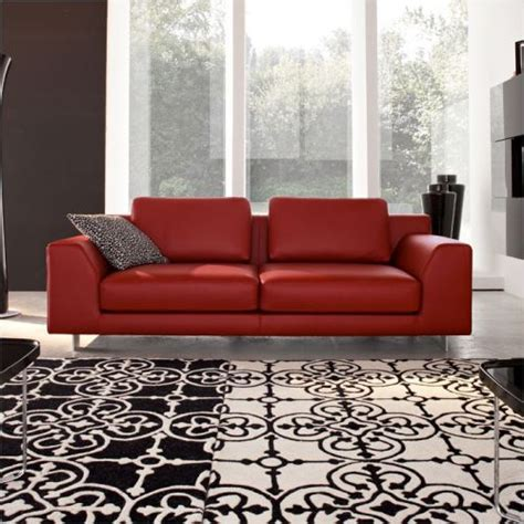 calligaris red sofa collection  fabric  leather