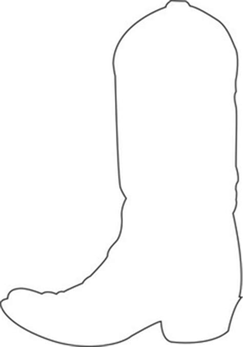 boot cake template west coloring pages clipart best