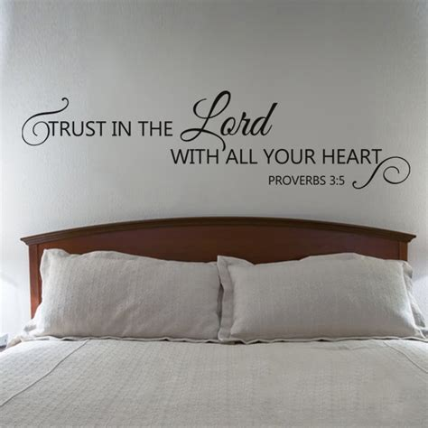 bible verse wall stickers scripture wall decal trust in the lord with all your bible verse wall decal quote 12 quot x46