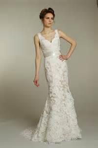 wedding dress ivory ivory v neck lace wedding dress with chagne