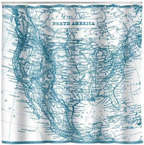 usa map shower curtain north america vintage map shower curtain old united states