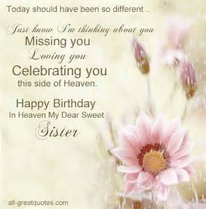 Happy Birthday In Heaven Quotes From Birthday Wishes To My Sister In Heaven Birthday In