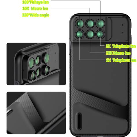 6 functional lens in one cover for iphone xs xr max phe10 cheap cell phone with