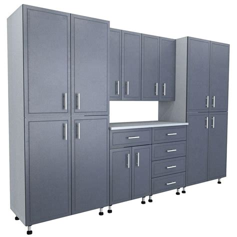 closetmaid pro garage 48 storage cabinet closetmaid 80 5 in x 120 in x 21 in progarage basic