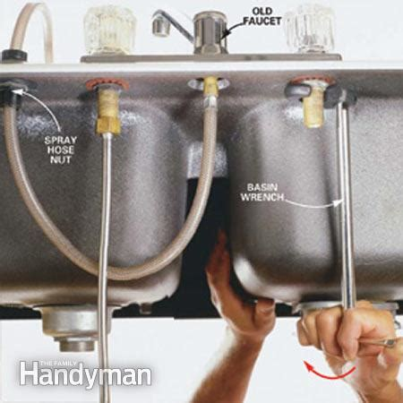 How To Tighten Kitchen Sink Faucet How To Replace A Kitchen Faucet The Family Handyman