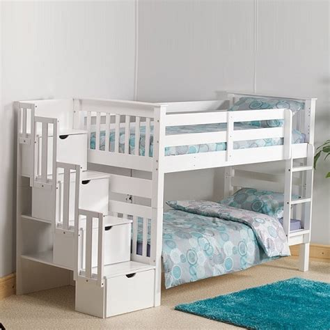 Joseph Bunk Beds White Amila Wooden Oak Children Single Wardrobe With 2 Large Drawers For 163 579 00 Go Furniture Co Uk