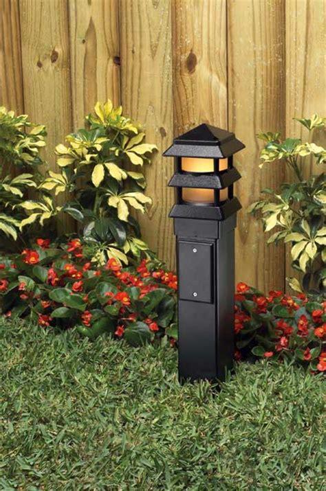 Garden L Post by Arlington Industries Gp19b 1 Gard N Post Outdoor Landscape Lighting Garden Post 19 Inch Black