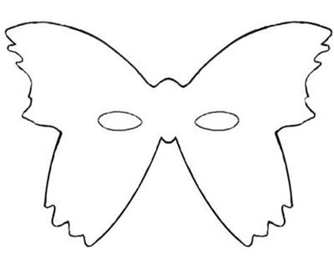 Butterfly Mask Template printable butterfly masks