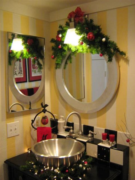 decorating the bathroom for christmas how to decorate your powder room for christmas