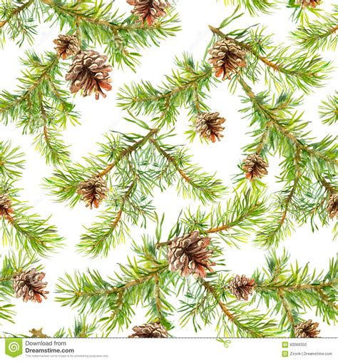 christmas tree new year pattern new year seamless pattern with branches of christmas tree