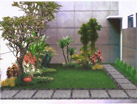 desain taman depan minimalis sederhana rumahku unik